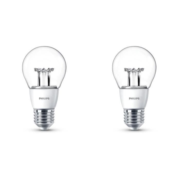 Philips lot de 2 ampoules led 40w e27 dimmables philips - Ampoule e27 40w ...