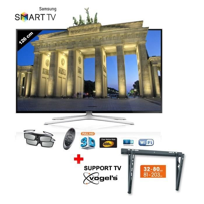 samsung ue50h6400 smart tv 3d 50 support tv samsung. Black Bedroom Furniture Sets. Home Design Ideas