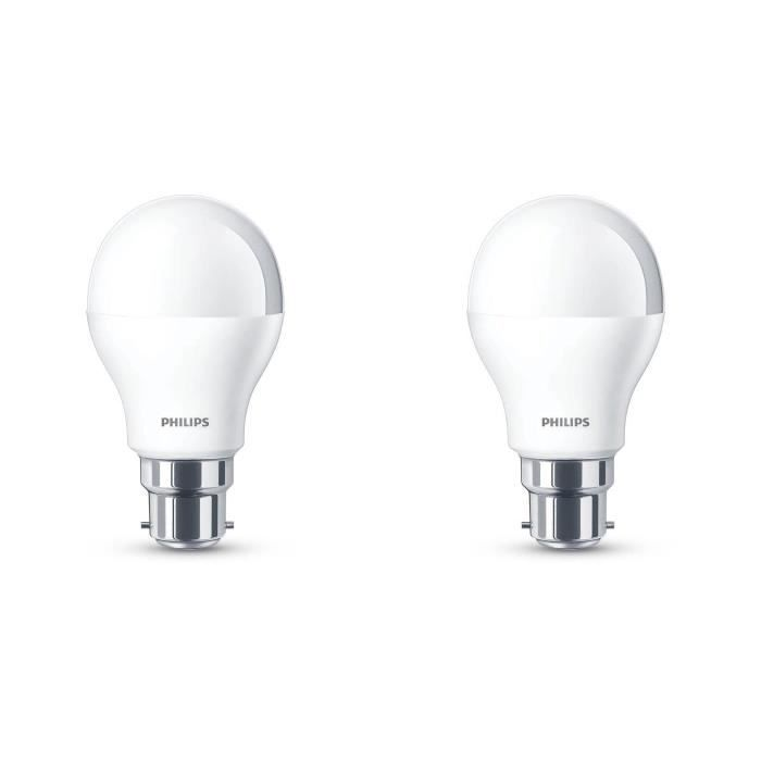 philips lot de 2 ampoules led 60w b22 d polies philips pickture. Black Bedroom Furniture Sets. Home Design Ideas