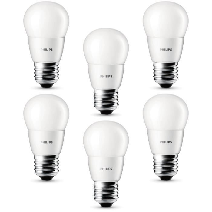 philips lot de 6 ampoules sph riques led 25w e27 philips pickture. Black Bedroom Furniture Sets. Home Design Ideas