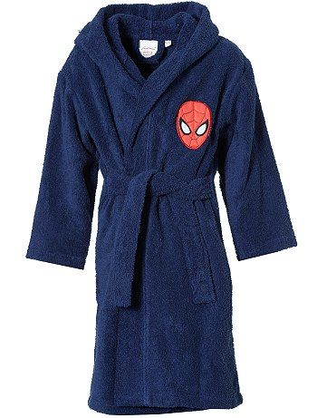 Peignoir ponge capuche 39 spiderman 39 kiabi pickture for Peignoir eponge garcon