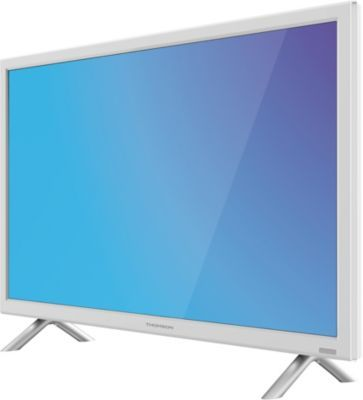 Tv led thomson 24ha4243w blanc 100hz mci thomson pickture - Televiseur led blanc ...
