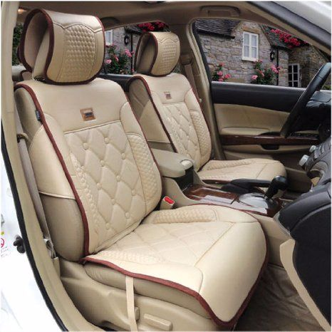 Beige car seat covers - Amazon - Pickture