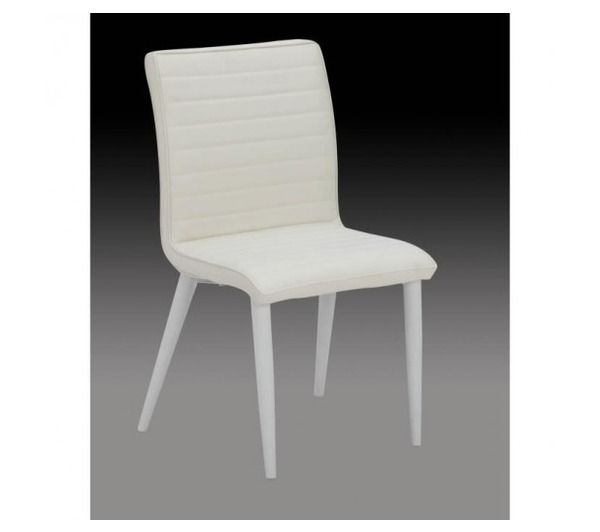 chloe lot de 2 chaises de salle a manger blanches noname pickture. Black Bedroom Furniture Sets. Home Design Ideas