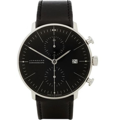 stainless steel automatic chronograph watch junghans x. Black Bedroom Furniture Sets. Home Design Ideas