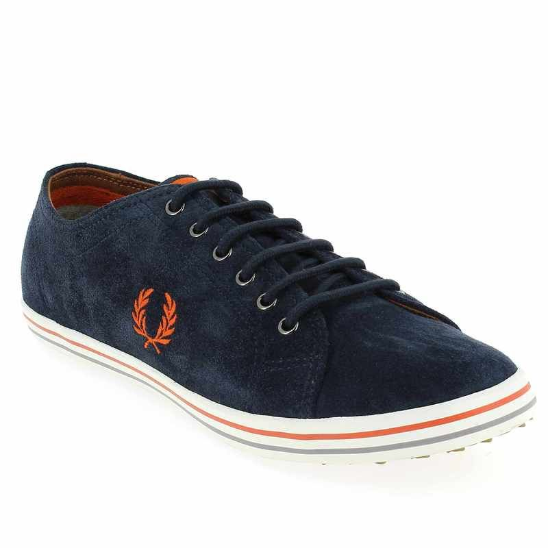 chaussure fred perry kingston suede bleu pour fred perry pickture