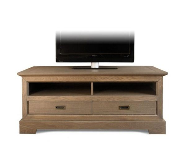 meuble tv bas 2 tiroirs en ch ne noname pickture. Black Bedroom Furniture Sets. Home Design Ideas