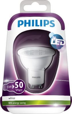 philips led spot gu10 4 5 50w philips pickture. Black Bedroom Furniture Sets. Home Design Ideas