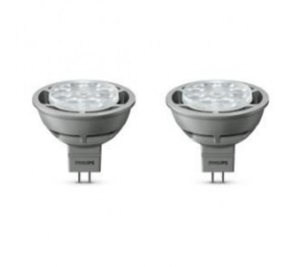 lot de 2 ampoules caps led 35w gu5 3 philips pickture. Black Bedroom Furniture Sets. Home Design Ideas