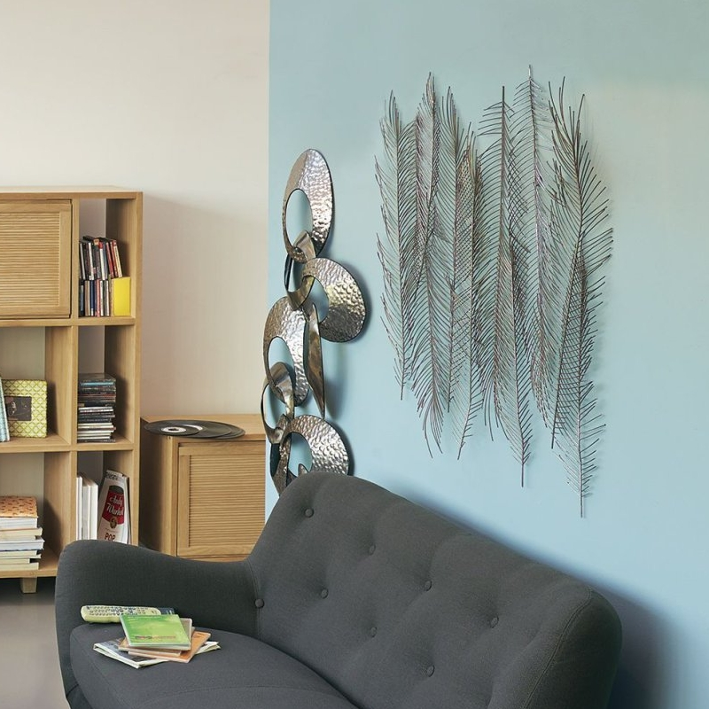 D coration murale en m tal gris 100x87cm alinea pickture for Decoration murale metal alinea