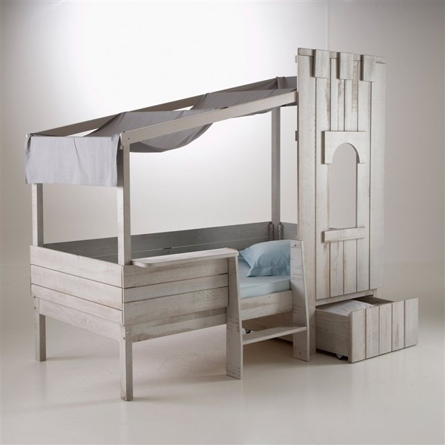 lit enfant ch teau fort pin massif la redoute pickture. Black Bedroom Furniture Sets. Home Design Ideas
