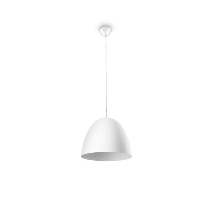 Philips suspension hever blanc 1x42w philips pickture - Suspension metal blanc ...