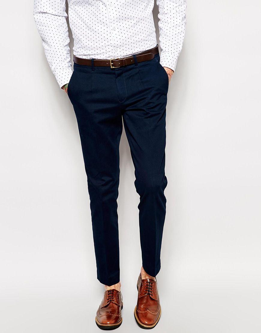 selected pantalon de costume skinny en coton selected pickture. Black Bedroom Furniture Sets. Home Design Ideas
