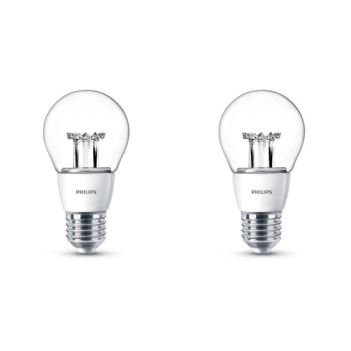 PHILIPS Lot de 2 ampoules LED 40W E27 dimmables  Philips