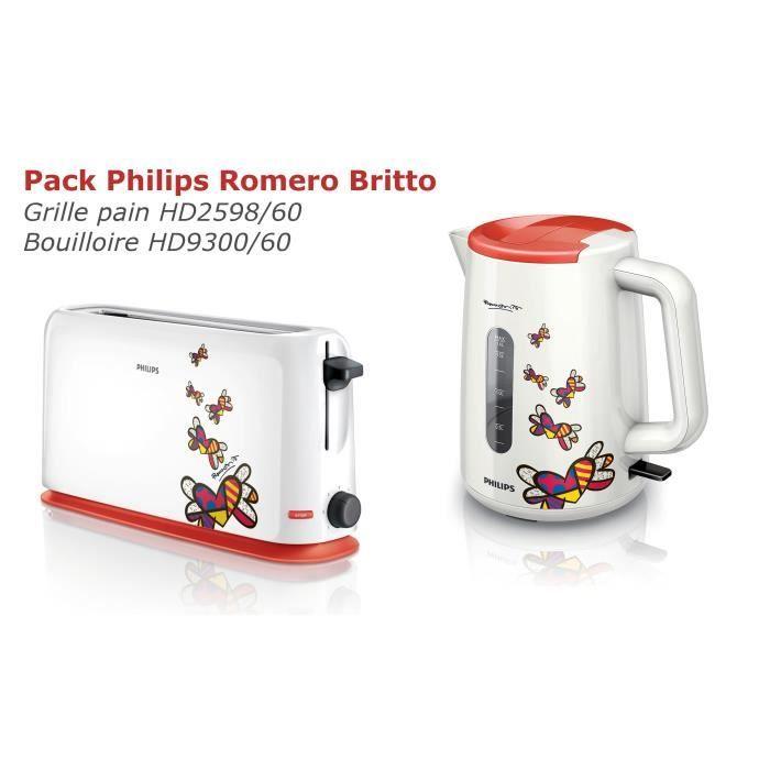 Grille pain hd2598 bouilloire hd930060 philips philips pickture - Ensemble grille pain bouilloire ...