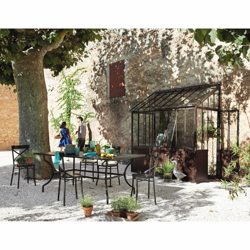 Table de jardin en fer forg maisons du monde pickture - Paravent fer forge maison du monde ...