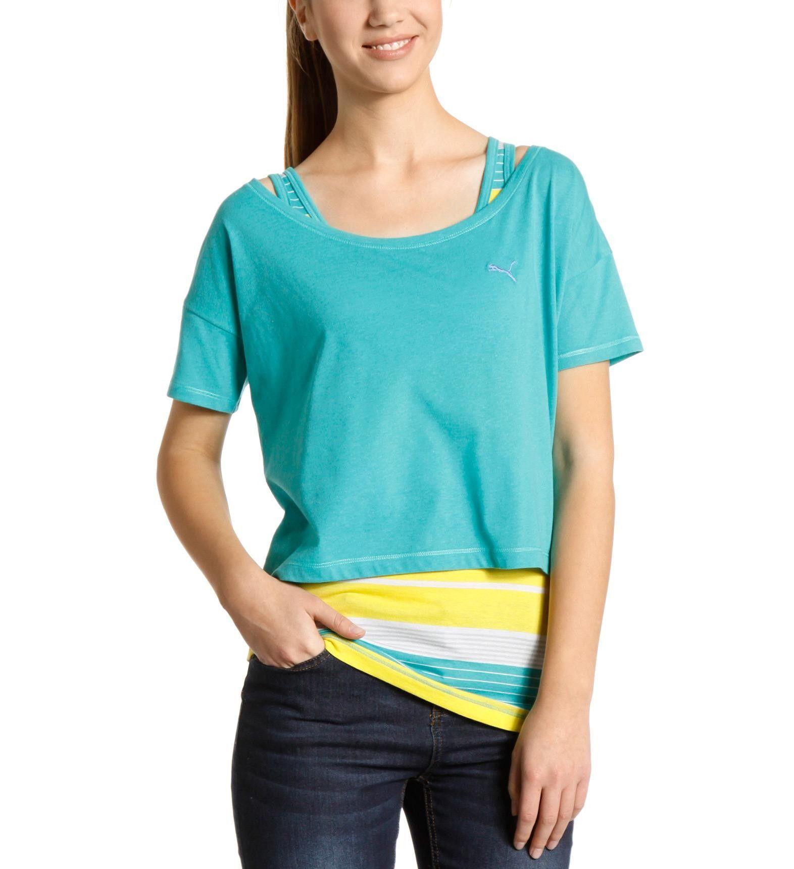 puma t shirt drapy 2 en 1 pour femme la boutique puma pickture. Black Bedroom Furniture Sets. Home Design Ideas