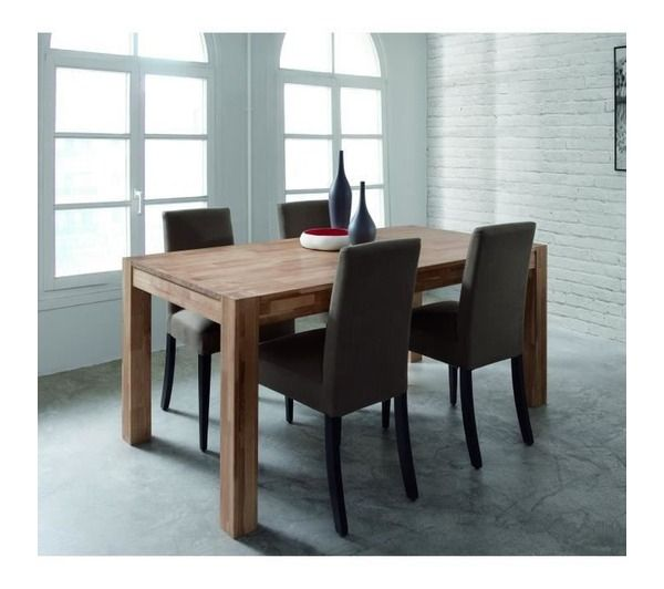Miles table de s jour en chene massif huil noname - Table chene massif huile ...