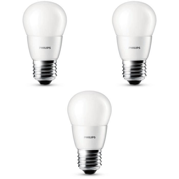 philips lot de 3 ampoules sph riques led 25w e27 philips. Black Bedroom Furniture Sets. Home Design Ideas