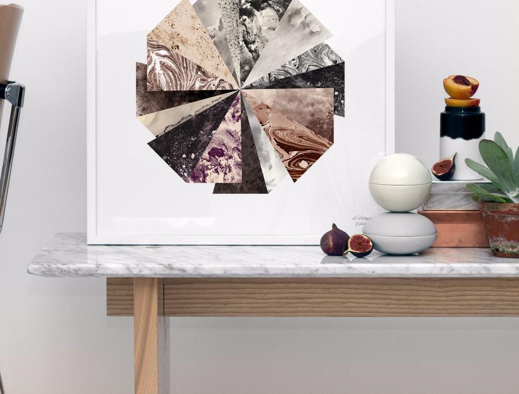 Table Basse en Marbre et Bois de Fr u00eane Normann copenhagen Pickture # Table Basse Marbre Et Bois