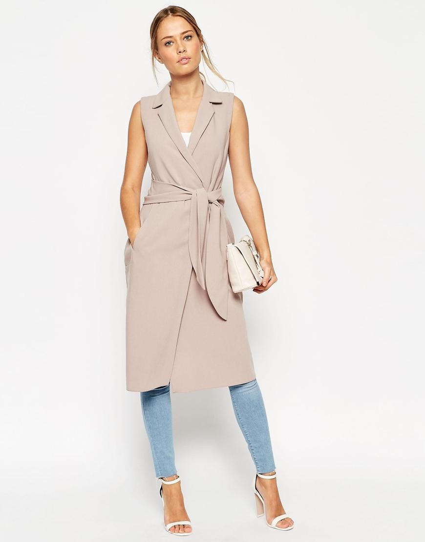 asos | Sleeveless Shirt Dress with Belted Wrap - Asos ...