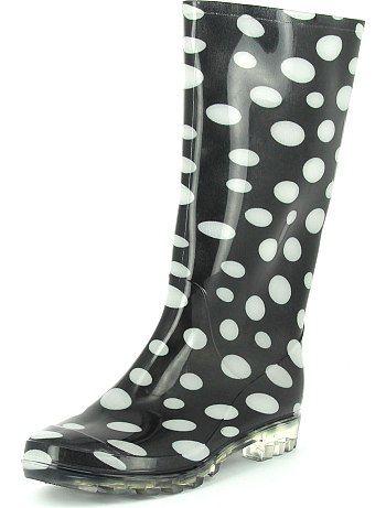 bottes de pluie for women kiabi bottes de pluie pois. Black Bedroom Furniture Sets. Home Design Ideas