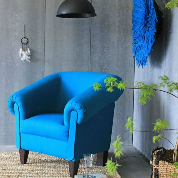 Loft Armchair Peacock Blue Rockett St George Pickture