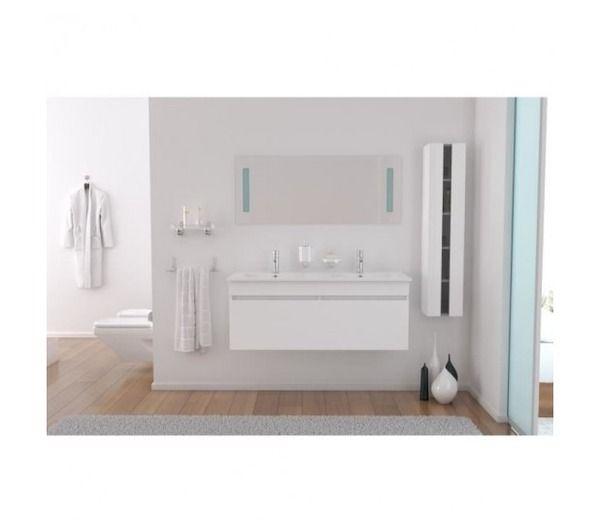 Alban salle de bain double vasque 120cm blanc noname for Zara home salle de bain