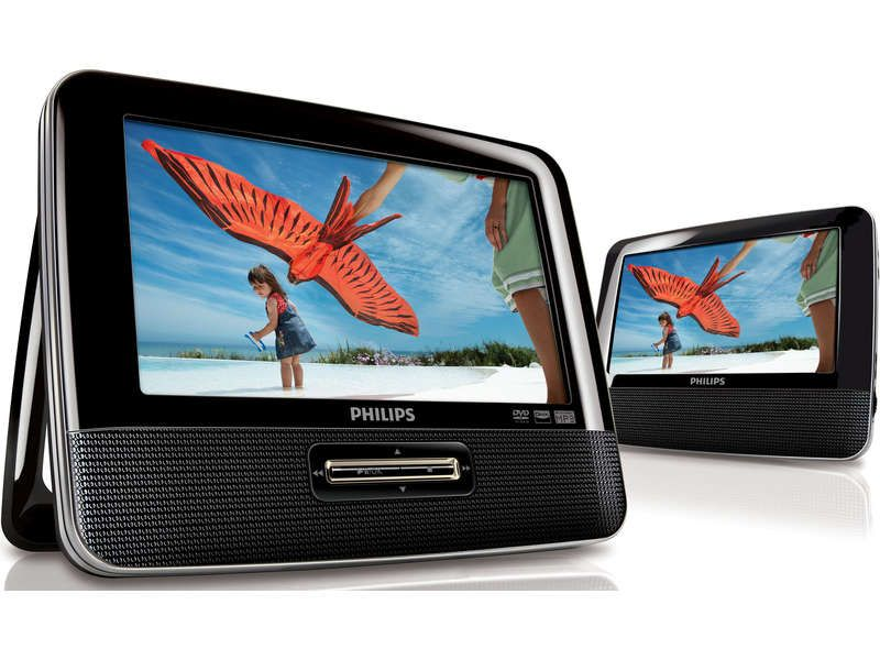 lecteur dvd portable double cran philips philips pickture. Black Bedroom Furniture Sets. Home Design Ideas