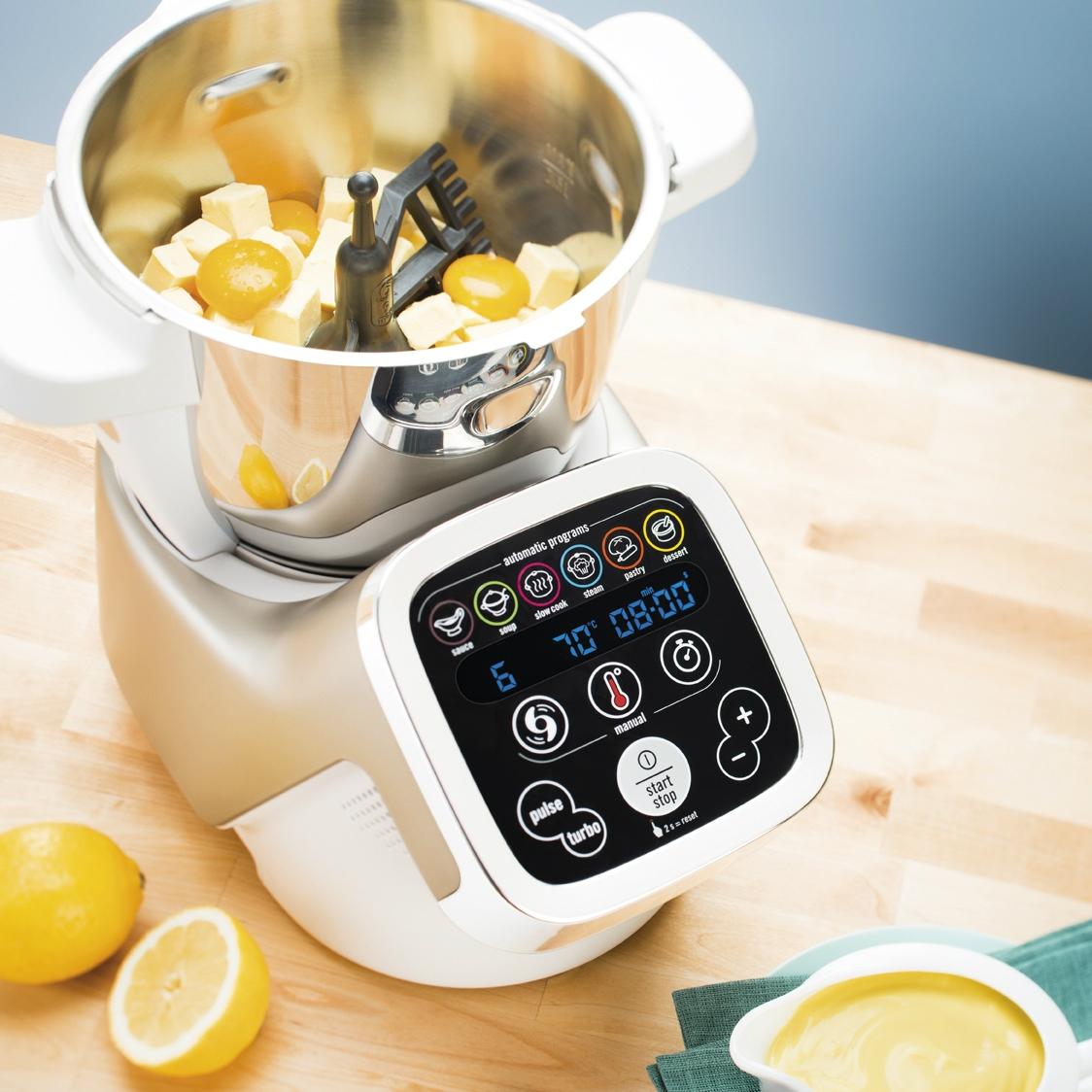 Robot multifonction hf800 moulinex pickture for Robot de cuisine multifonction chauffant