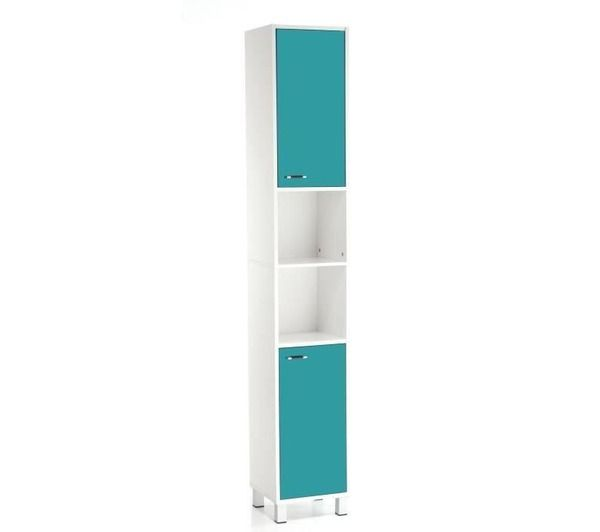 Colonne salle de bain high glossy turquoise noname for Colonne salle de bain