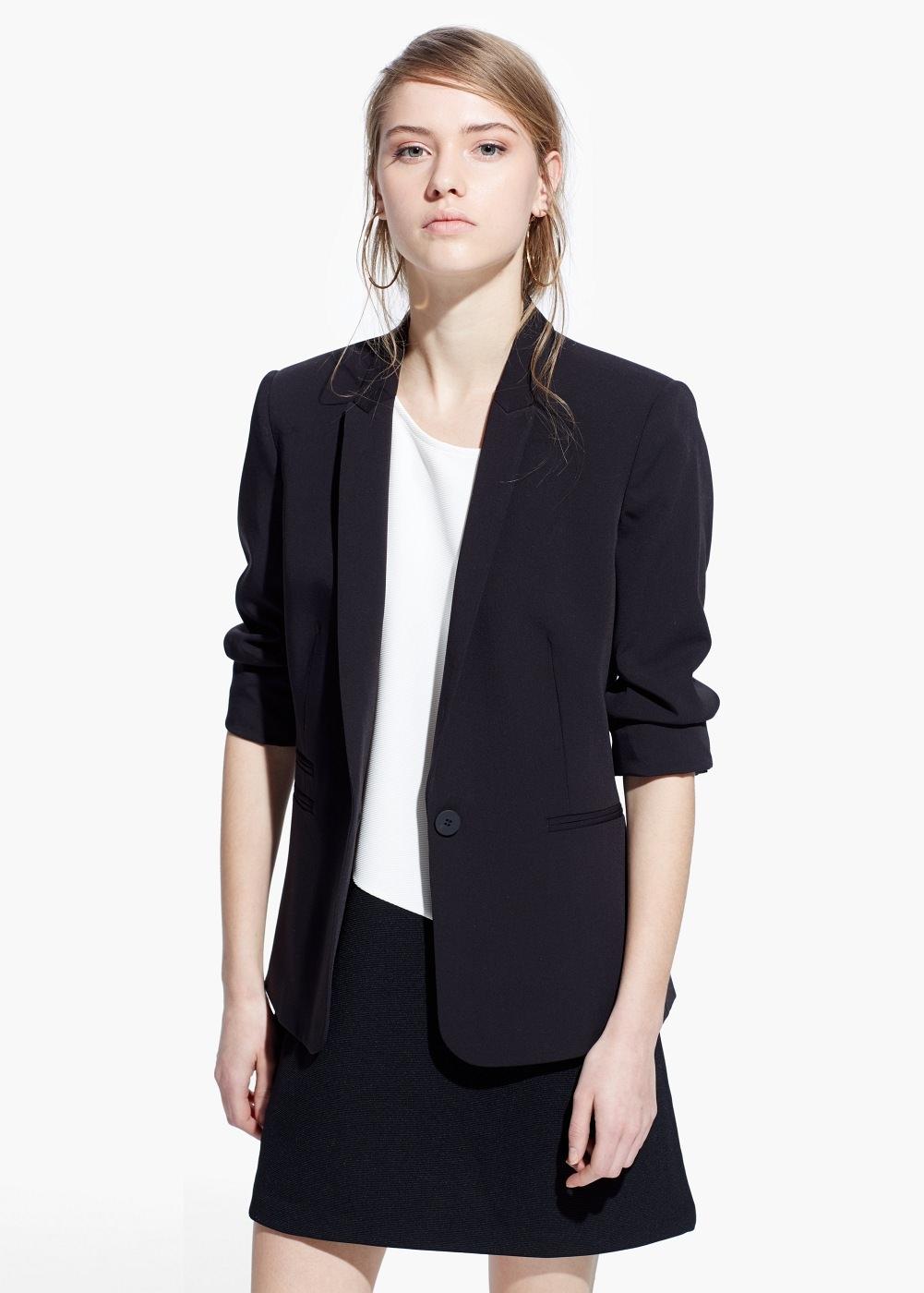 veste de costume pour femme black mango pickture. Black Bedroom Furniture Sets. Home Design Ideas