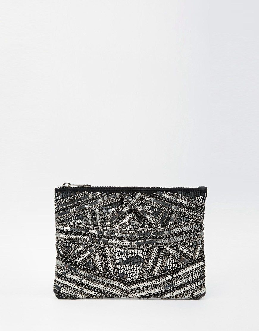 asos pochette empi cements avec fermeture asos pickture. Black Bedroom Furniture Sets. Home Design Ideas