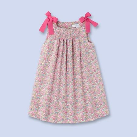 robe en tissu liberty fille rose multico jacadi jacadi With robe liberty fille