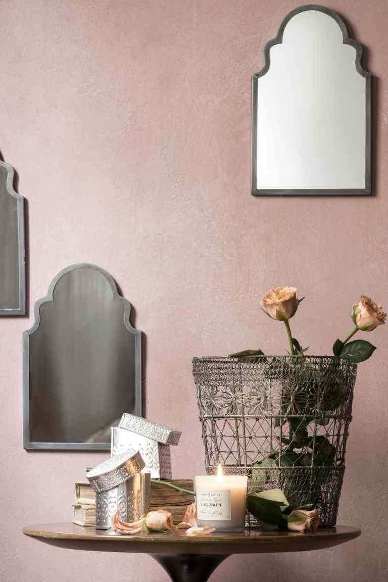 Miroir argent h m pickture for Miroir argente