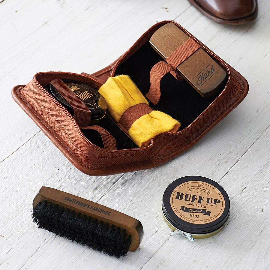 Brown Shoe Polish Kit