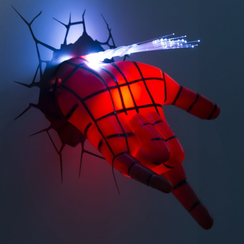 3d Wall Decor Lights : Marvel avengers spiderman hand d wall art deco pickture
