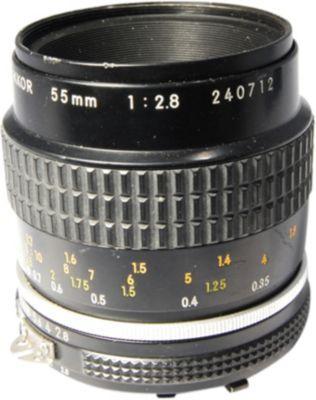 Objectif pour reflex nikon ai s 55mm f 2 8 micro nikon for Objectif a miroir pour nikon